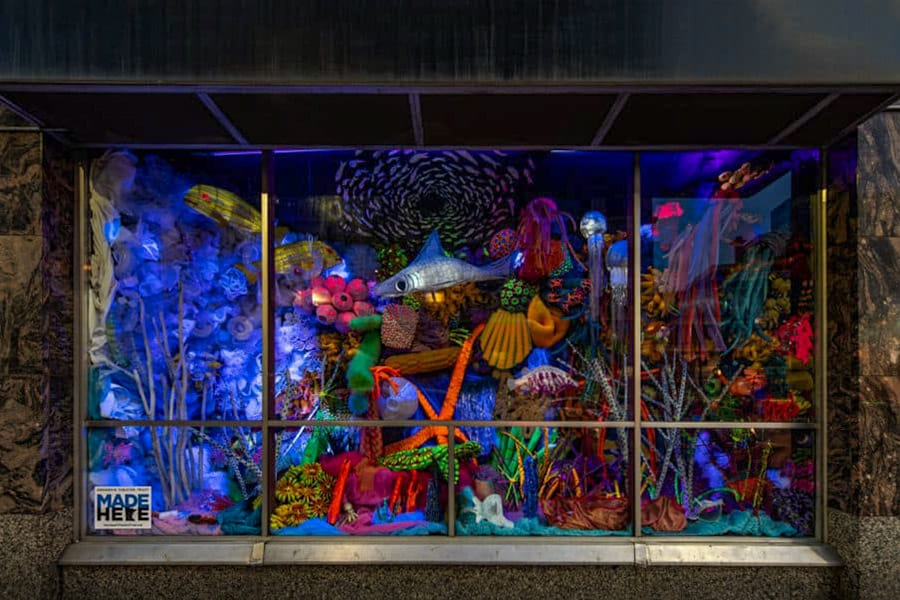 Illuminated Reef install photo by Steven Lang